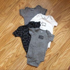 Bundle of 4 Carter's Baby Bear Bodysuits